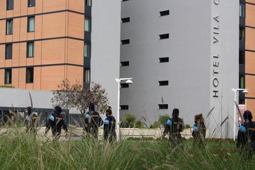 ФОТО. Баскетболистки сборной Украины прогулялись в окрестностях отеля